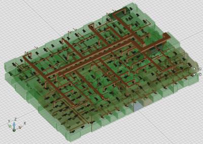 BIM-Modell eines Fabrikgebäudes