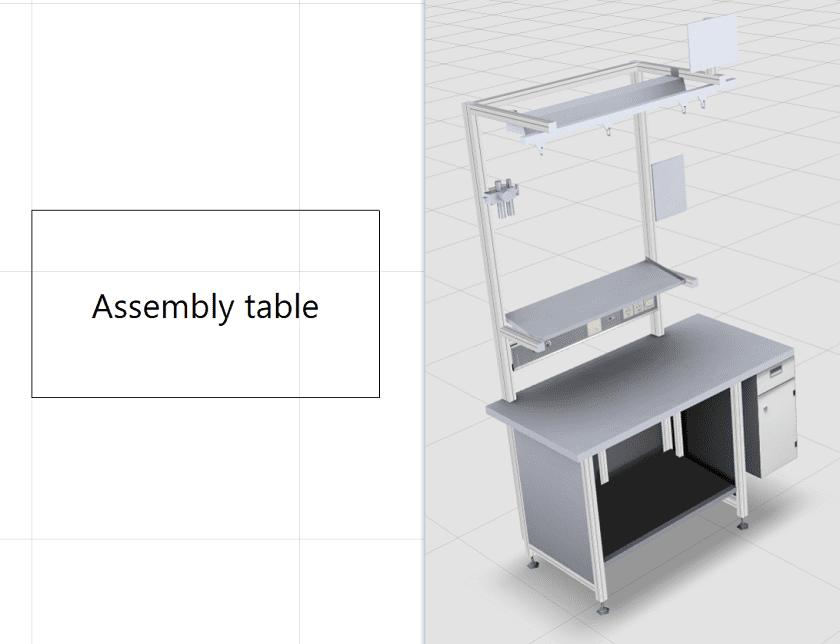 Unterschied in der Darstellung 2D und 3D im Fabriklayout