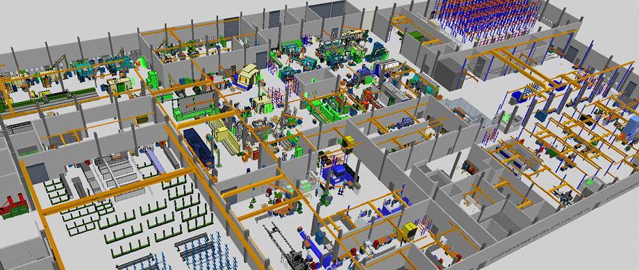 3D-Fabrik Projekt Fabrikplanung in visTABLE bei Staufen
