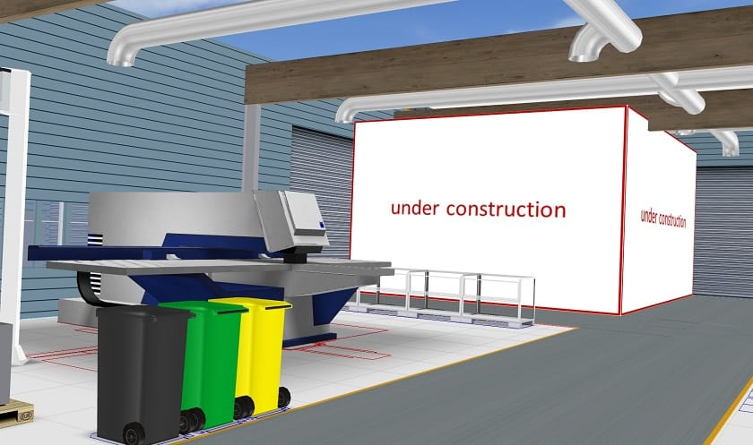 Placeholders are initially added to a layout in place of a more precise 3D model
