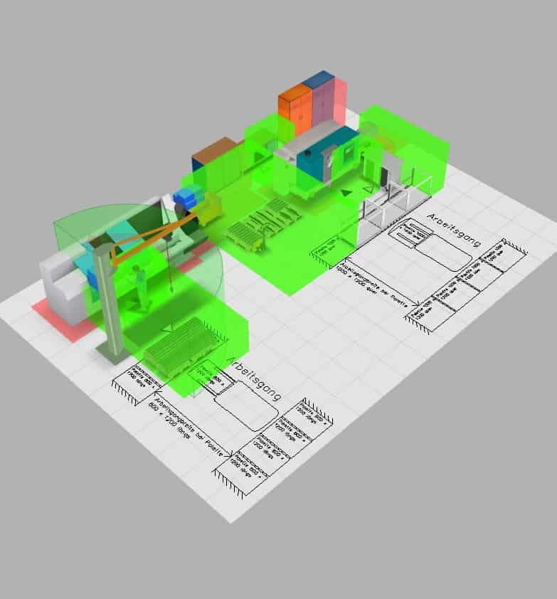 Flächenplanung in 3D