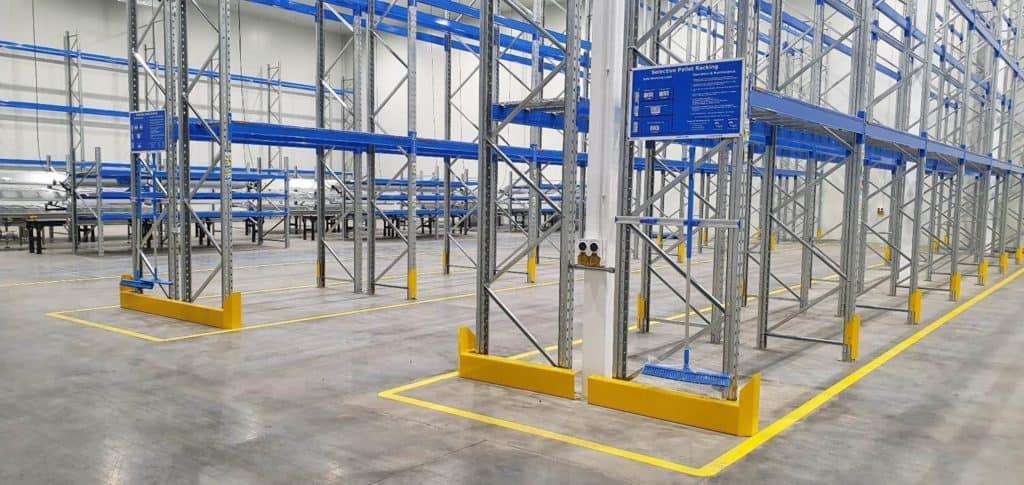 Foto eines Lagerbereiches in der Fabrik von HelloFresh