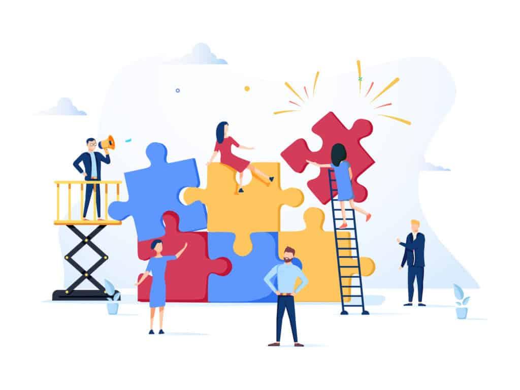 Koordinieren ist die zweite Ebene in der Zusammenarbeit von Teams.