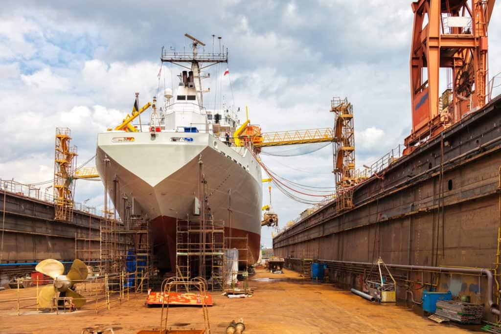 Die Einzelplatzstruktur findet man z. B. im Schiffbau.