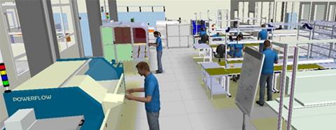 Von Papier und Schere zur digitalen Lean-Fabrik in 3D