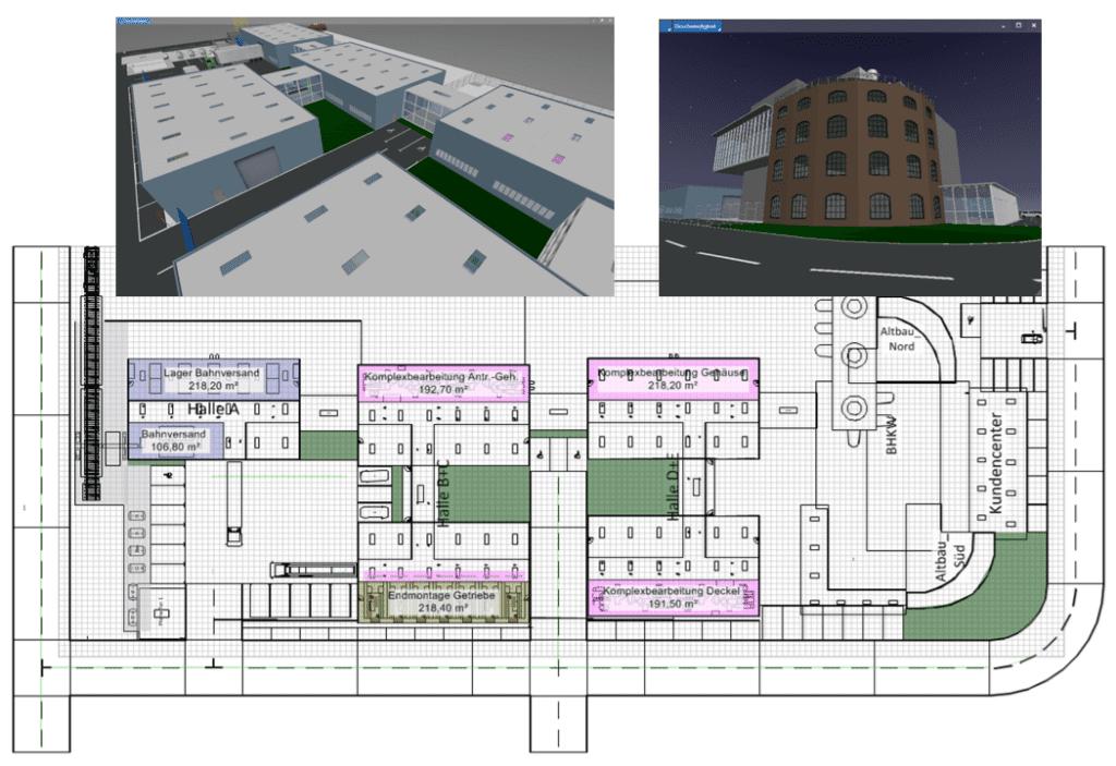 Ein digitales Modell der Fabrik schafft die Basis für Standards in der Fabrikplaung.