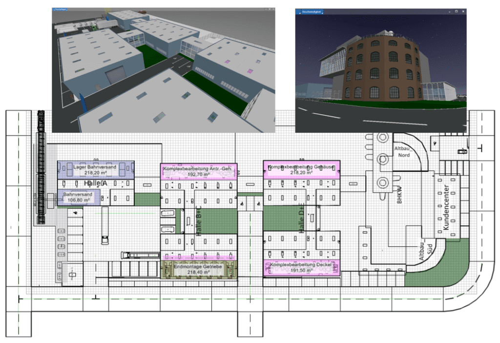 A digital model of the factory creates the basis for standards in factory layout.