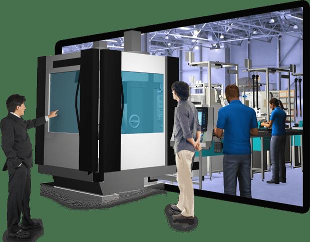 Die Digitale Fabrik ermöglicht die virtuelle Planung einer Fertigung mit Montage.