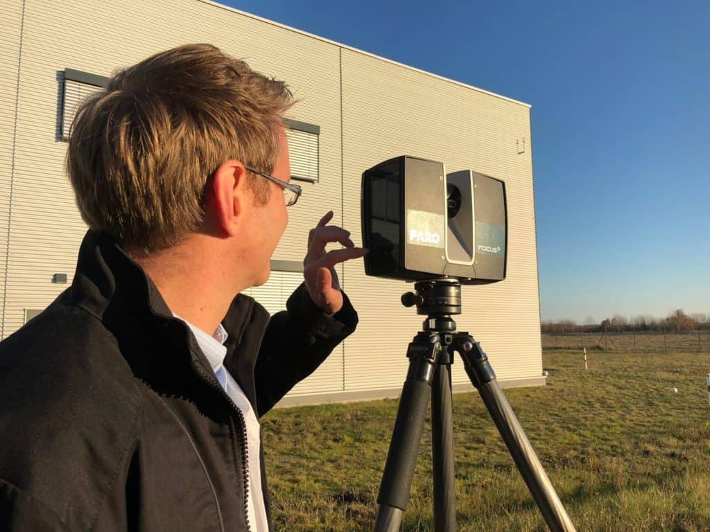 Experte bei 3D-Vermessung mit Laser Scanner zur Bestandsaufnahme