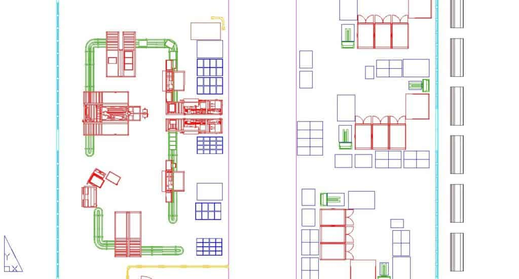 Factory layouts are often digitized in 2D CAD