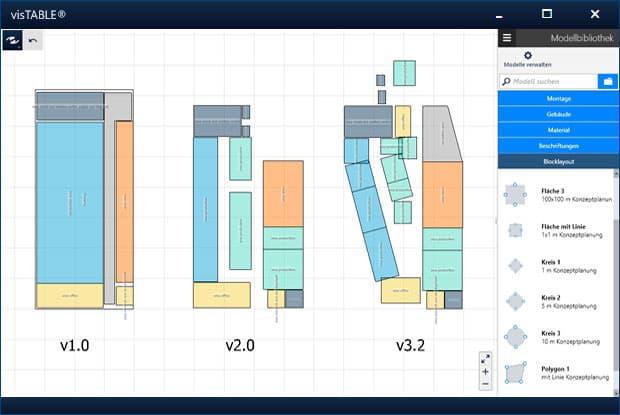 Fabrikplanungssoftware ermöglicht schnelle Planung von Varianten mit Hilfe von Blocklayouts