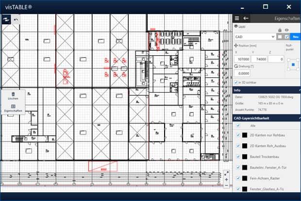 Grundriss CAD-Import aus DWG, DXF und IFC