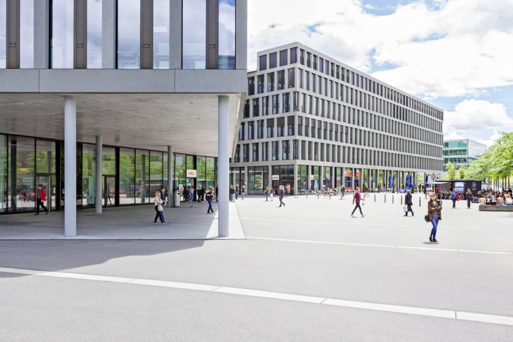 Blick auf den Campus Brugg-Windisch der Fachhochschule Nordwestschweiz FHNW