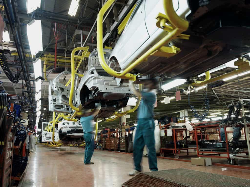 Fließfertigung ist eine typische Ausprägung der Reihenstruktur. Die Entwicklung des Konzepts wird Henry Ford zugeschrieben.