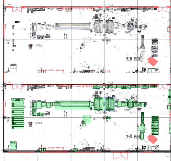 2D Blocklayoutplanung auf Basis von Schnittgrafik Laser Scanning