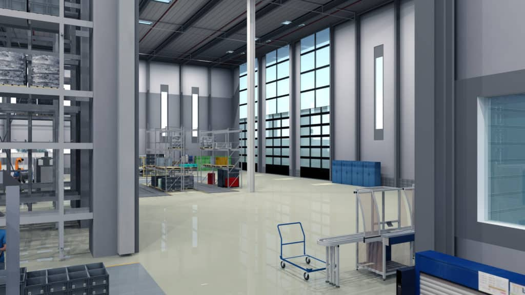 3D Layout Fabrik als Digital Twin