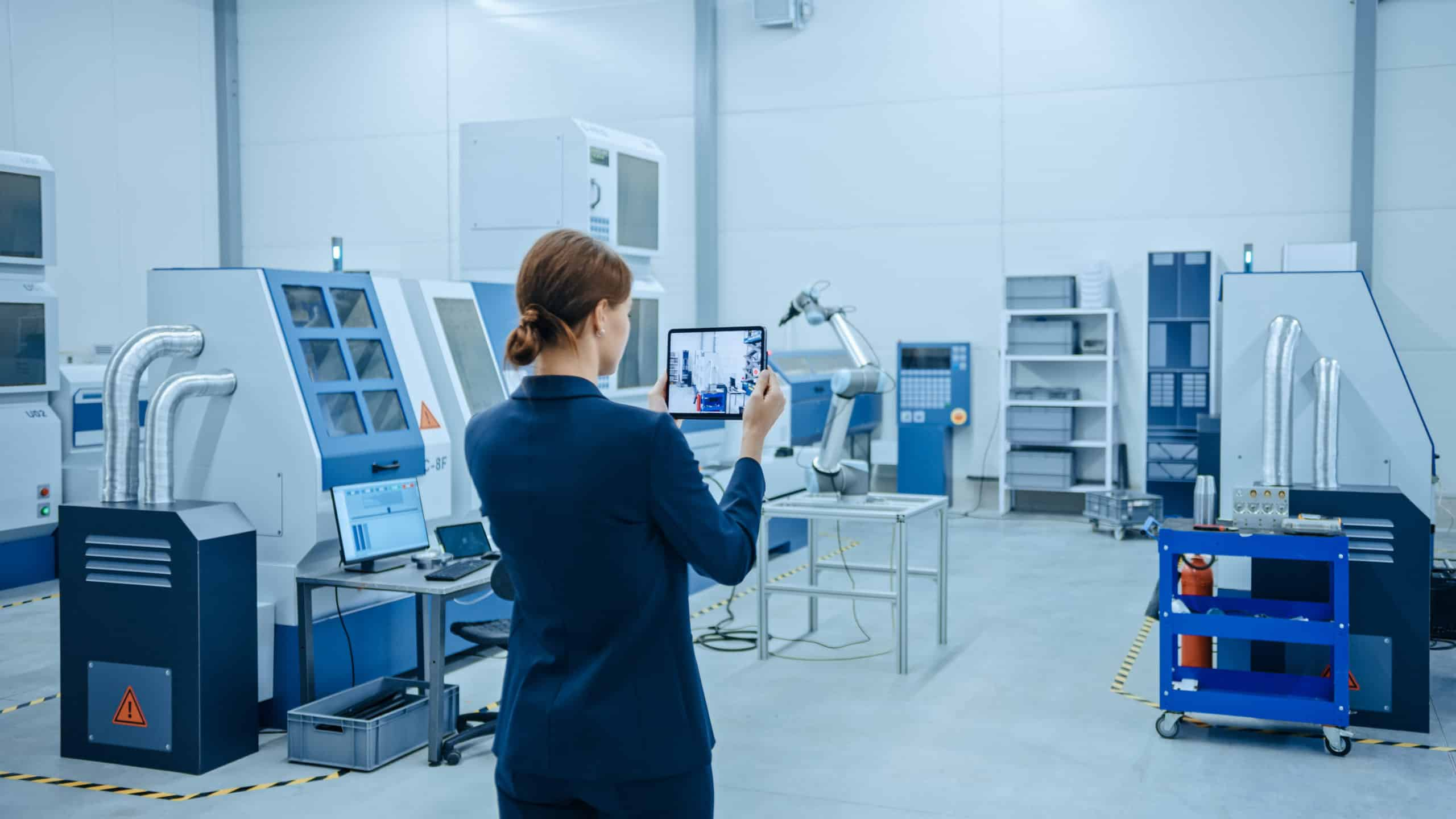 mobile scanning or visualization of 3d factory model