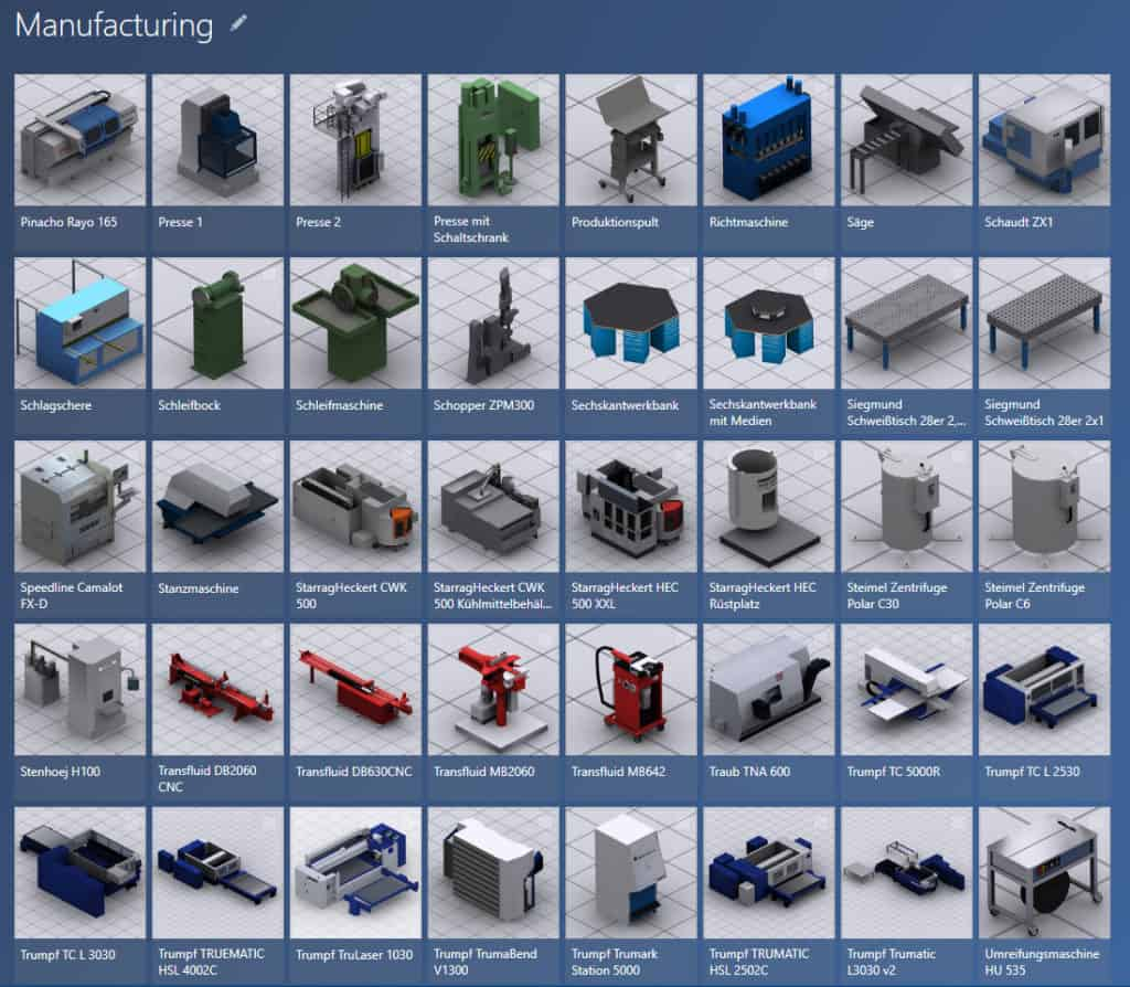 Example for 3D model library manufacturing in the software visTABLE®touch
