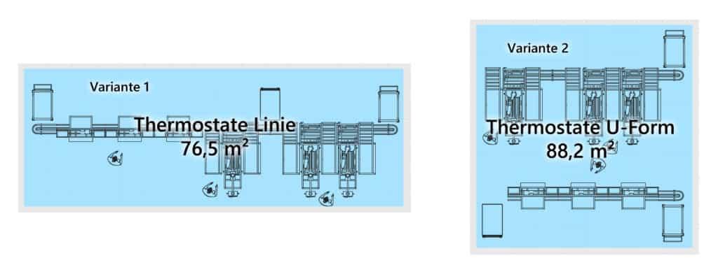Nutzwertanalyse Vergleich Layoutvarianten Montagelinie