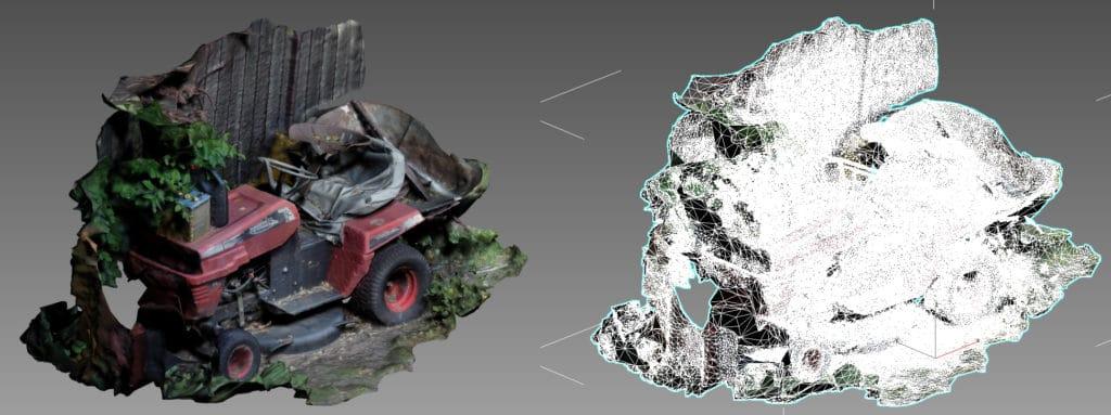 Photogrammetrie Beispiel Berechnung 3D-Modell aus Fotos