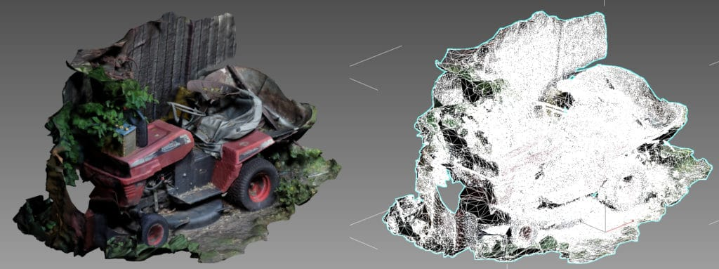 Photogrammetry example calculation 3D model from photos