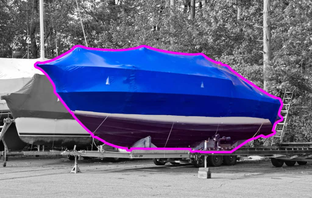 principle of automatic simplification of 3d complex CAD models based on the tarpaulin of a boat