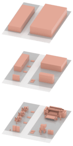 The 3D fine layout (also detailed layout) of a manufacturing area