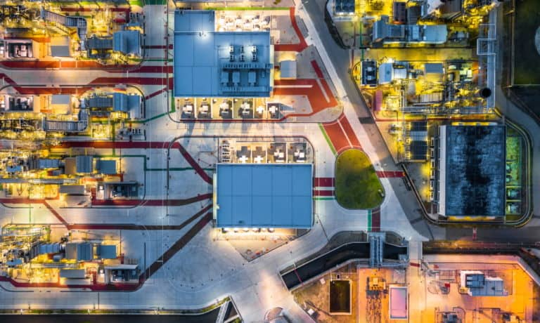 top view factory site planning