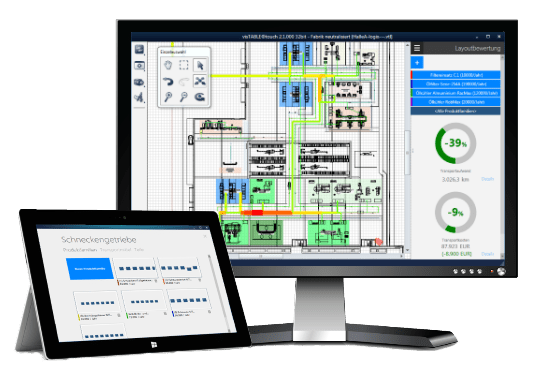 visTABLE® provides optimized user interfaces for the process and resources views