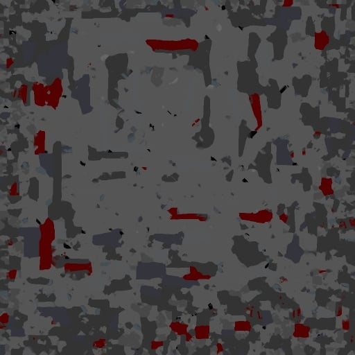 Example texture atlas proxy lod from Simplygon automatic simplification of 3d