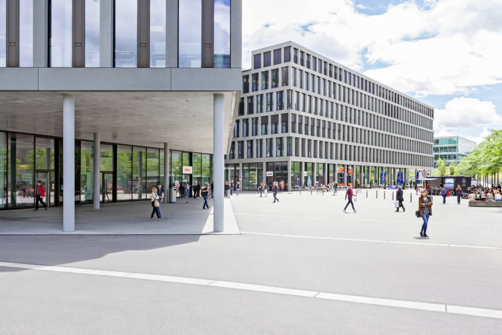 View of the Brugg-Windisch campus of the University of Applied Sciences Northwestern Switzerland FHNW