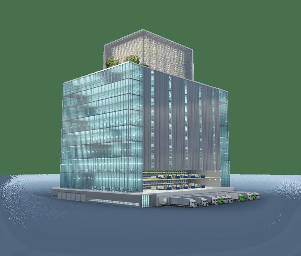 Die vertikale Fabrik ist eine Zukunftsvision innovativer Fabrikplanung.