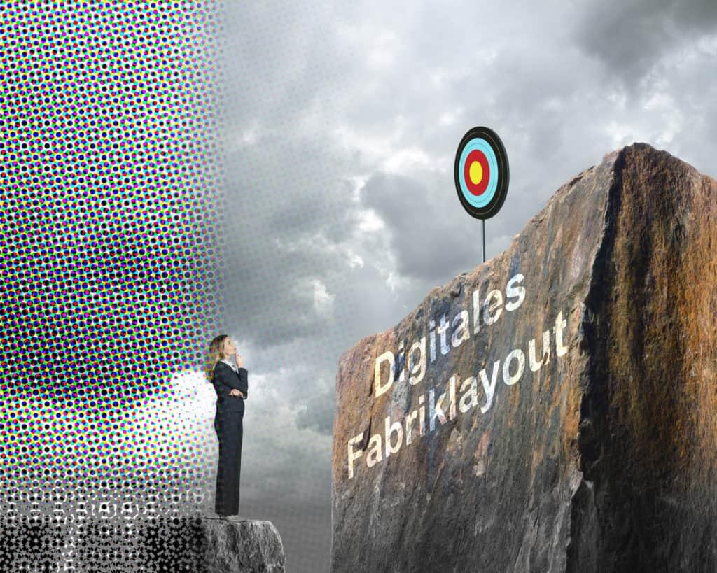 Illustration vom schwierigen Weg zum digitalen Fabriklayout mittels Laser Scanning